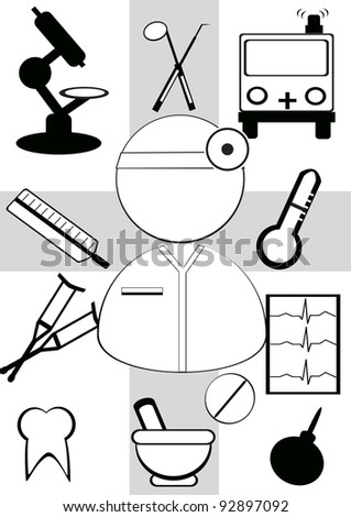 Vector concept for health topic - stock vector