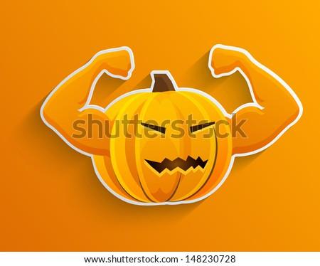 Vector concept halloween background. Eps10 - stock vector