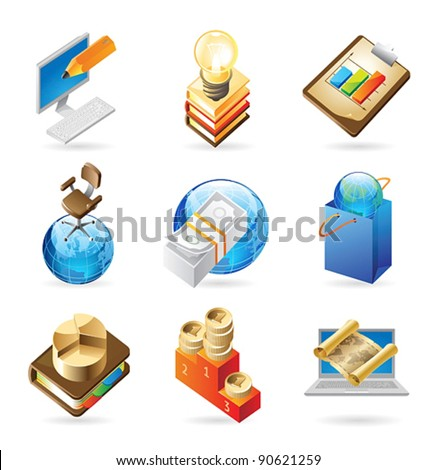 Vector concept icons for business. Illustrations for document, article or website.