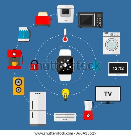 Vector Concept Modern Flat Style Smart Stock Vector 368413529