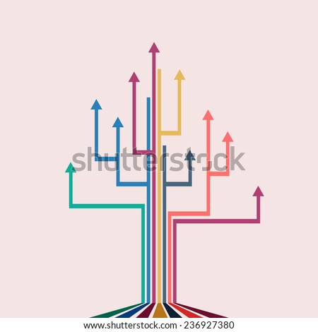 Vector concept of growth