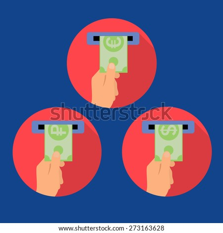 Vector concept of payment options in flat style - stock vector