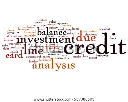Vector concept conceptual credit card line stock vector 2018 vector concept or conceptual credit card line investment balance abstract word cloud isolated on background metaphor reheart Images