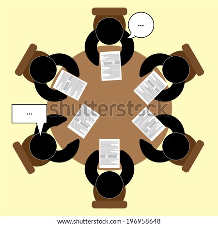Vector conference, meeting icons set - stock vector