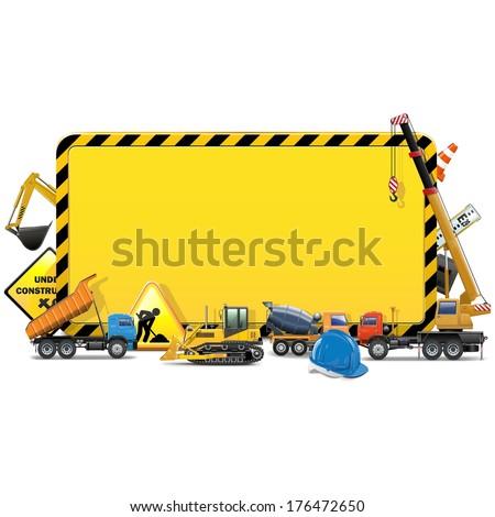 Vector Construction Board - stock vector