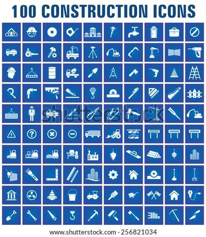 vector construction icon set  - stock vector