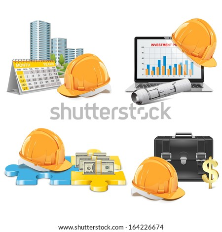 Vector Construction Investment Concept - stock vector