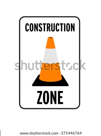 Vector Construction Zone Sign