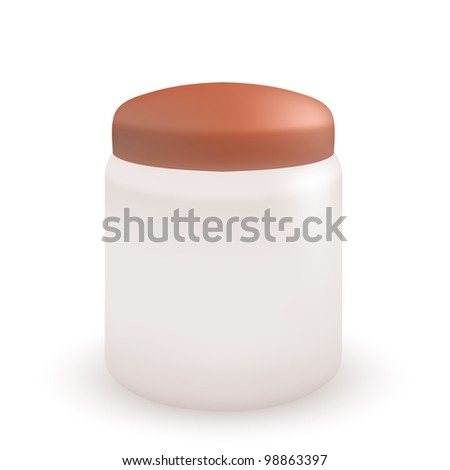 Vector container for cream or soap isolated on white background
