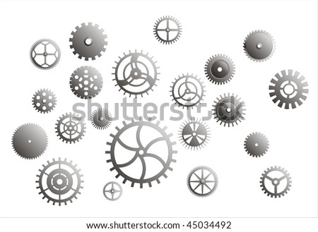 Vector contains various design gear drawings.