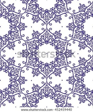 vector, contour, illustration, seamless pattern, element for design, abstract, swirls, mandala,  oriental style