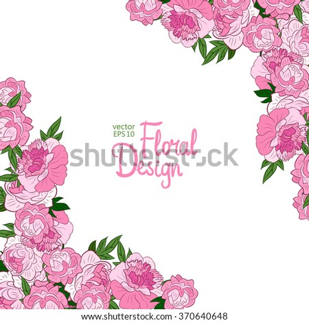 Peony Wedding Invitations with beautiful invitations layout