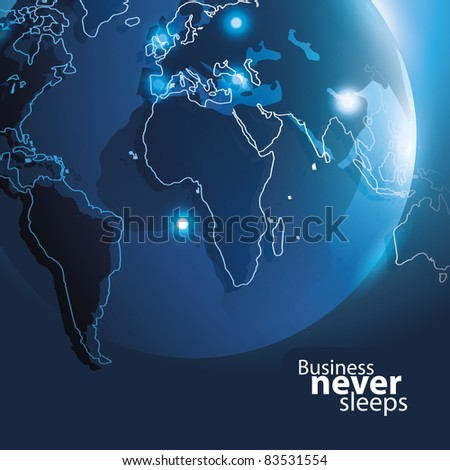 Vector Corporate Background with Earth
