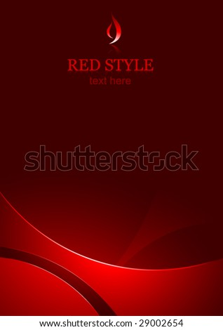 vector corporate business template background - red - stock vector