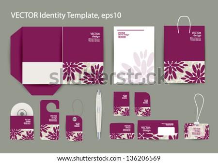 Vector corporate design business artworks folder stock vector vector corporate design for business artworks folder business card invitation card packege stopboris Images