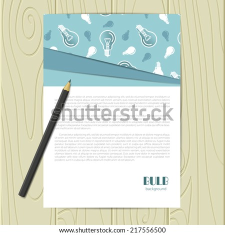 Vector corporate identity template with bulb elements. Eps10 - stock vector