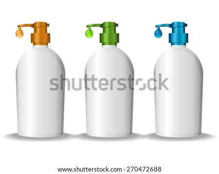 Vector: Cosmetic Containers - stock vector