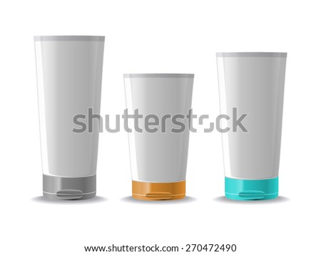 Vector: Cosmetic Containers Creme - stock vector
