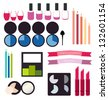 Vector cosmetics info graphics - stock vector