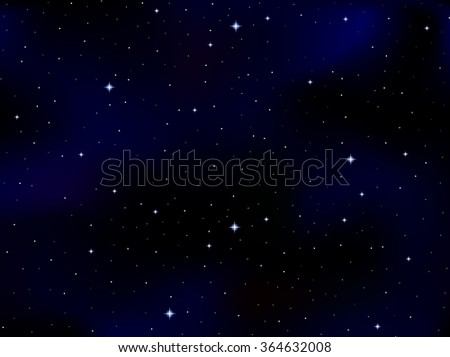 Vector cosmic background with stars and constellations in outer space. Starry night sky - stock vector