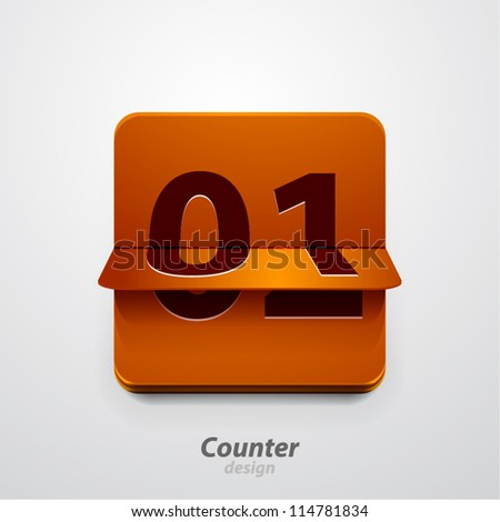 Vector counter icon - stock vector