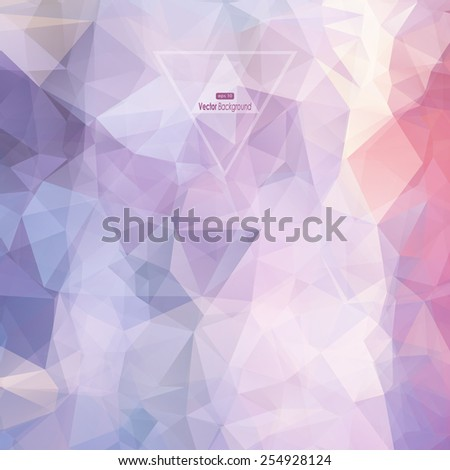 Vector cover design, multicolored abstract polygonal geometric background eps10 - stock vector