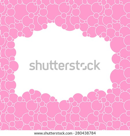 Vector creative abstract background is of circular elements pale pink color on a white backdrop - stock vector