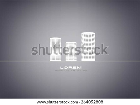 Vector creative building construction, house logo for your company background. building background. - stock vector