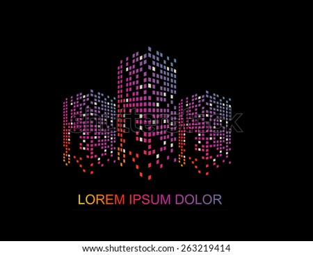 Vector creative building construction, house logo for your company isolated.  - stock vector