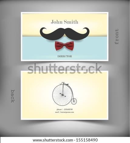 Vector creative business card - stock vector