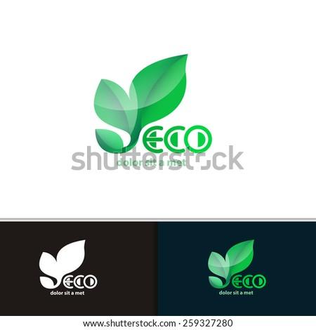 Vector creative environmental icon for your company. Modern logo design eco plants. - stock vector