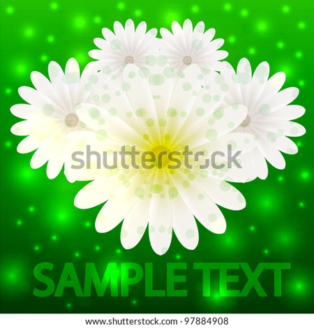 Vector creative flowers background for invitation or postcard. Eps 10 - stock vector