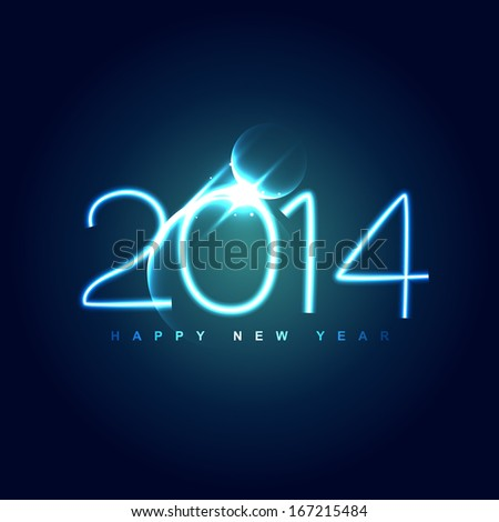 vector 2014 creative greeting design