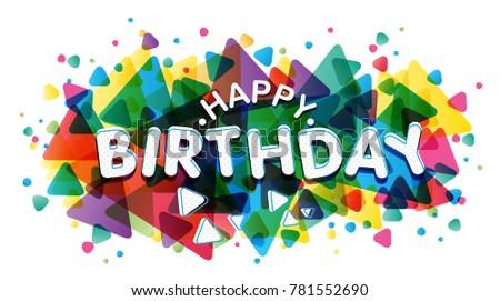 Vector Creative Illustration Of Happy Birthday Word