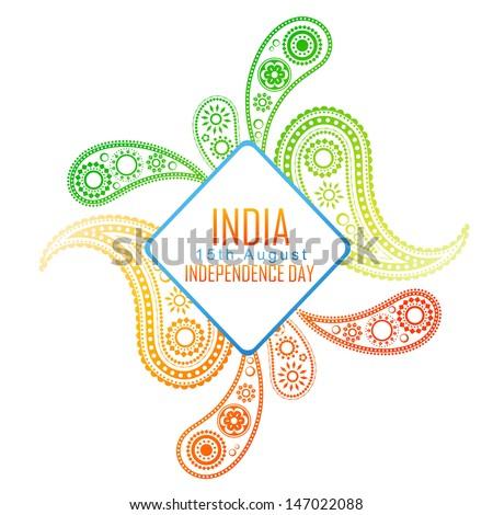vector creative indian flag design background - stock vector