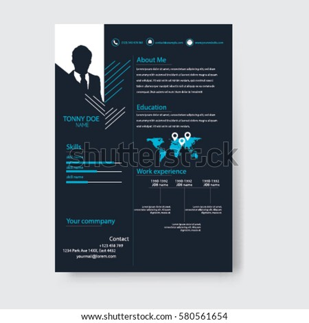Vector Creative Minimalist Cv Resume Template .Solid And Clean Template .  Innovative Resume Templates