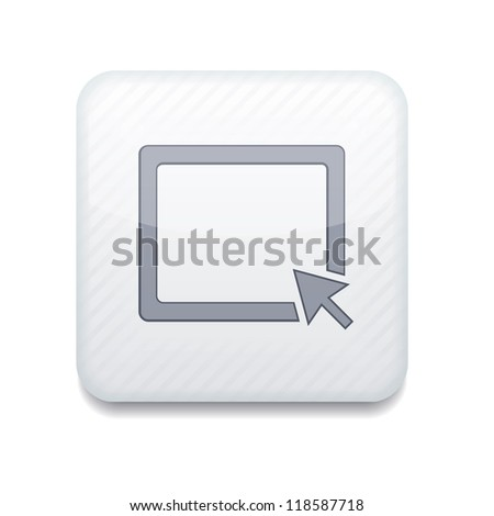 Vector creative white app icon on white background. Eps10 - stock vector