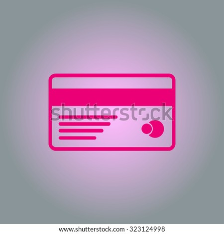 Vector credit card icon. Flat design style. EPS 10.