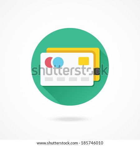 Vector Credit Cards Icon - stock vector