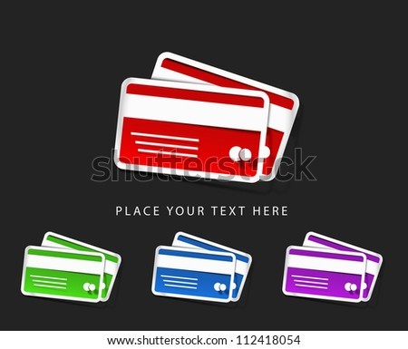 vector credit cards icon design element. - stock vector