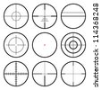 Vector crosshairs set. Each crosshair in seperated layers. - stock vector