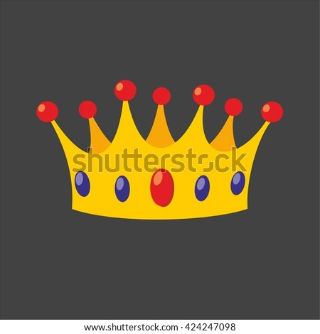 Vector crown isolated on black background