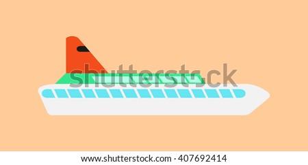 vector cruise ship - stock vector