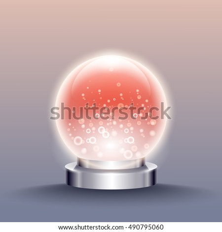 Vector crystal ball.