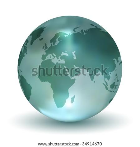 Vector Crystal Earth Globe - stock vector