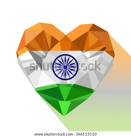 Vector Crystal Gem Jewelry Indian Heart Stock Vector ...