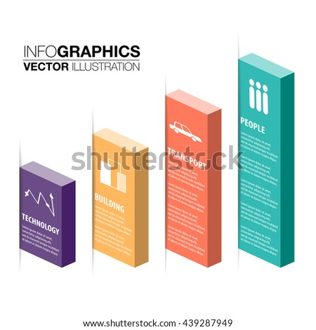 vector cube box business concepts templates stock vector 439287949