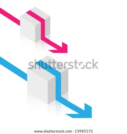 Vector cube design - stock vector