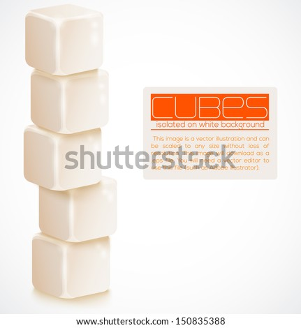 Vector cubes isolated on a white background.  - stock vector