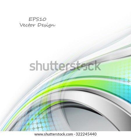 vector curly background with bright shining lines. Eps10 - stock vector